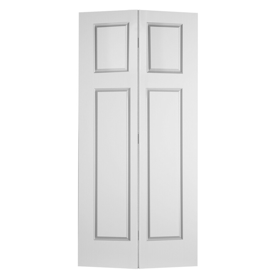 Shop Reliabilt Hollow Core 3 Panel Craftsman Bi Fold Closet Interior Door Common 30 In X 80 In