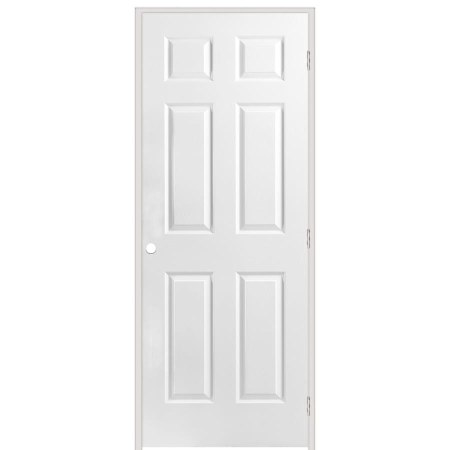 Shop Reliabilt Prehung Solid Core 6 Panel Interior Door Common 36 In X 80 In Actual 37 5 In