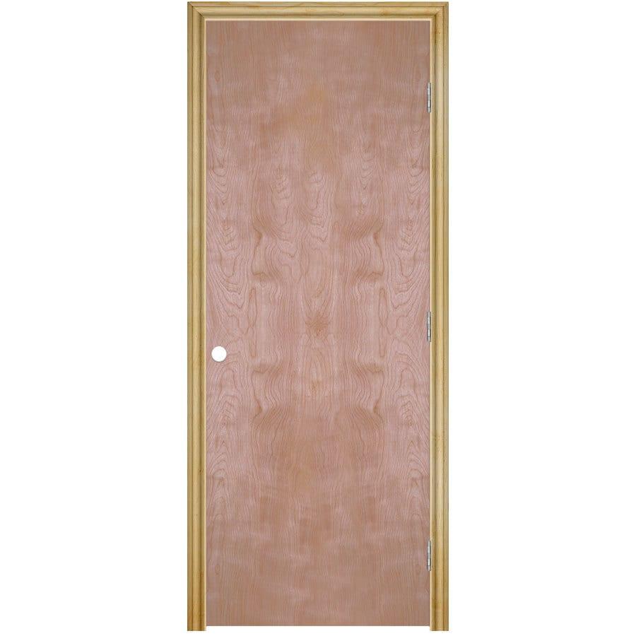 ReliaBilt Prehung Hollow Core Flush Birch Interior Door (Common: 30-in x 80-in; Actual: 31.5-in x 81.5-in)