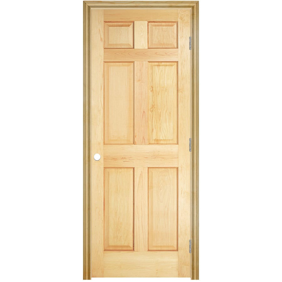 ReliaBilt Prehung Solid Core 6-Panel Pine Interior Door (Common: 30-in x 80-in; Actual: 31.5-in x 81.5-in)