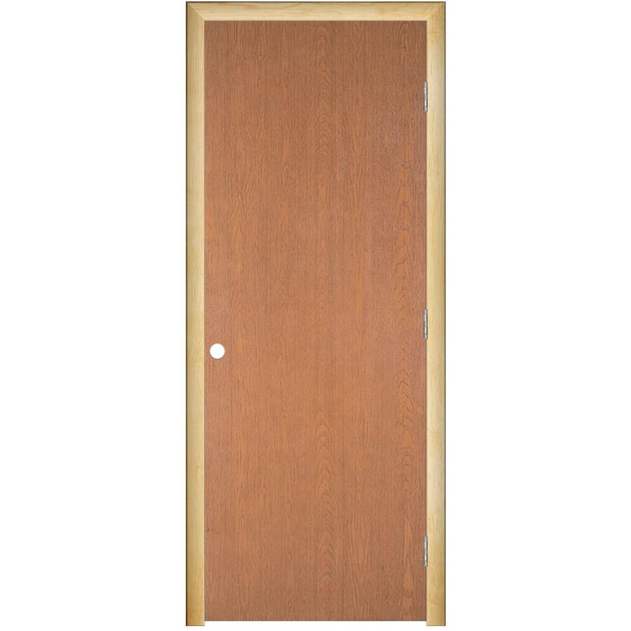 ReliaBilt Prehung Hollow Core Flush Lauan Interior Door (Common: 24-in x 80-in; Actual: 25.5-in x 81.5-in)