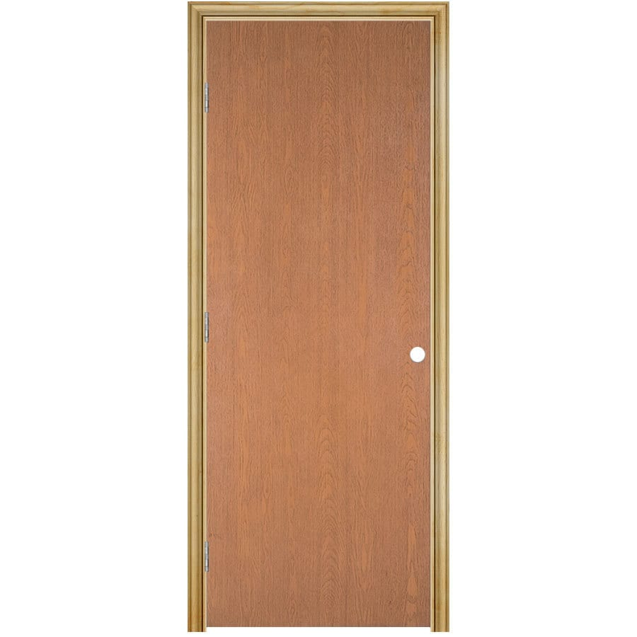 ReliaBilt Prehung Hollow Core Flush Lauan Interior Door (Common: 24-in x 80-in; Actual: 25.5-in x 81.5-in)