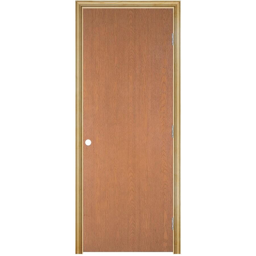 ReliaBilt Prehung Hollow Core Flush Lauan Interior Door (Common: 36-in x 80-in; Actual: 37.5-in x 81.5-in)