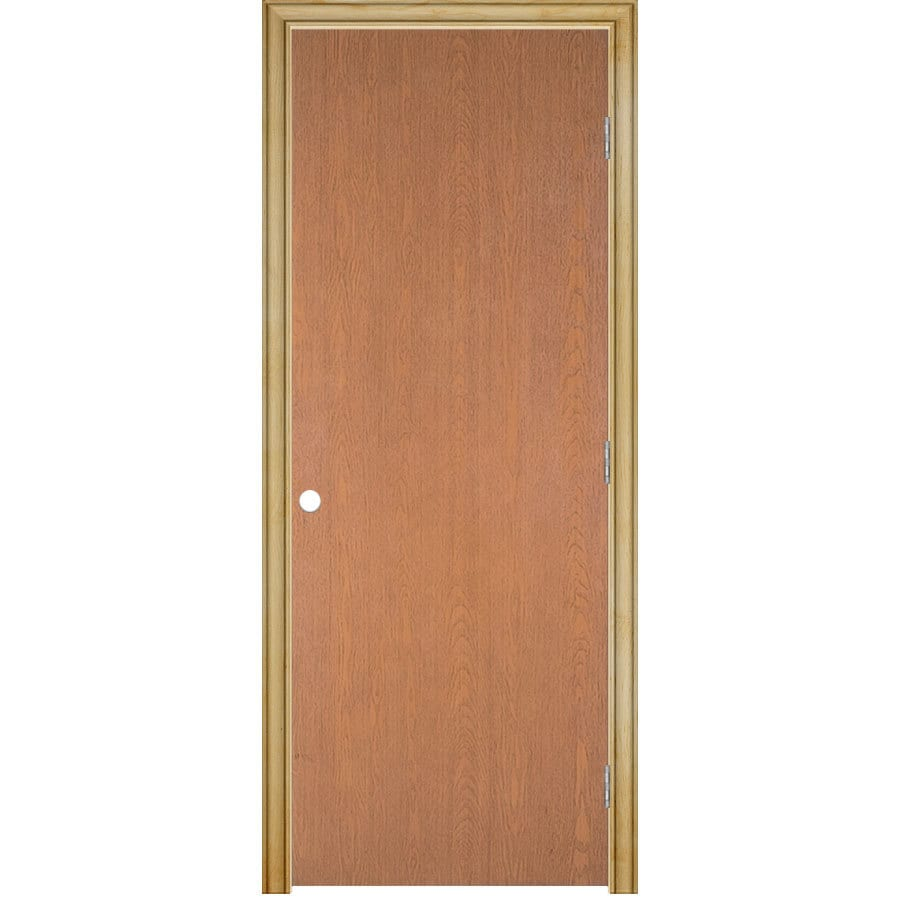 ReliaBilt Prehung Hollow Core Flush Lauan Interior Door (Common: 28-in x 80-in; Actual: 29.5-in x 81.5-in)