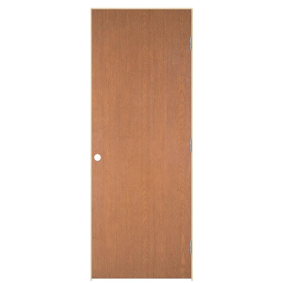 ReliaBilt Prehung Hollow Core Flush Lauan Interior Door (Common: 32-in x 80-in; Actual: 33.5-in x 81.5-in)