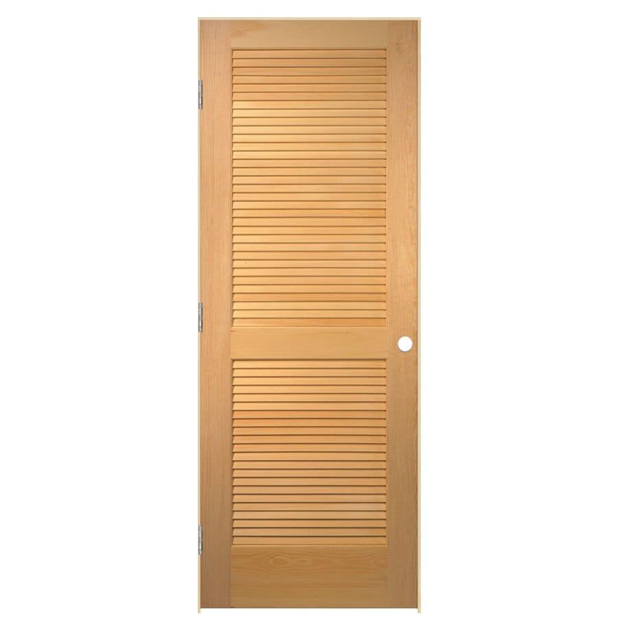ReliaBilt Prehung Solid Core Full Louver Pine Interior Door (Common: 30-in x 80-in; Actual: 31.5-in x 81.5-in)