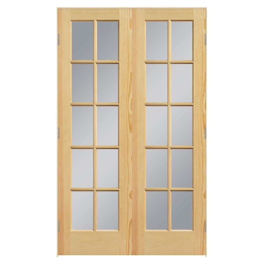 ReliaBilt Prehung Solid Core 10-Lite Clear Glass Pine Interior Door (Common: 48-in x 80-in; Actual: 49.5-in x 81.5-in)
