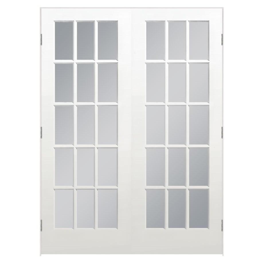 ReliaBilt Prehung Solid Core 15-Lite Clear Glass Pine Interior Door (Common: 60-in x 80-in; Actual: 61.5-in x 81.5-in)