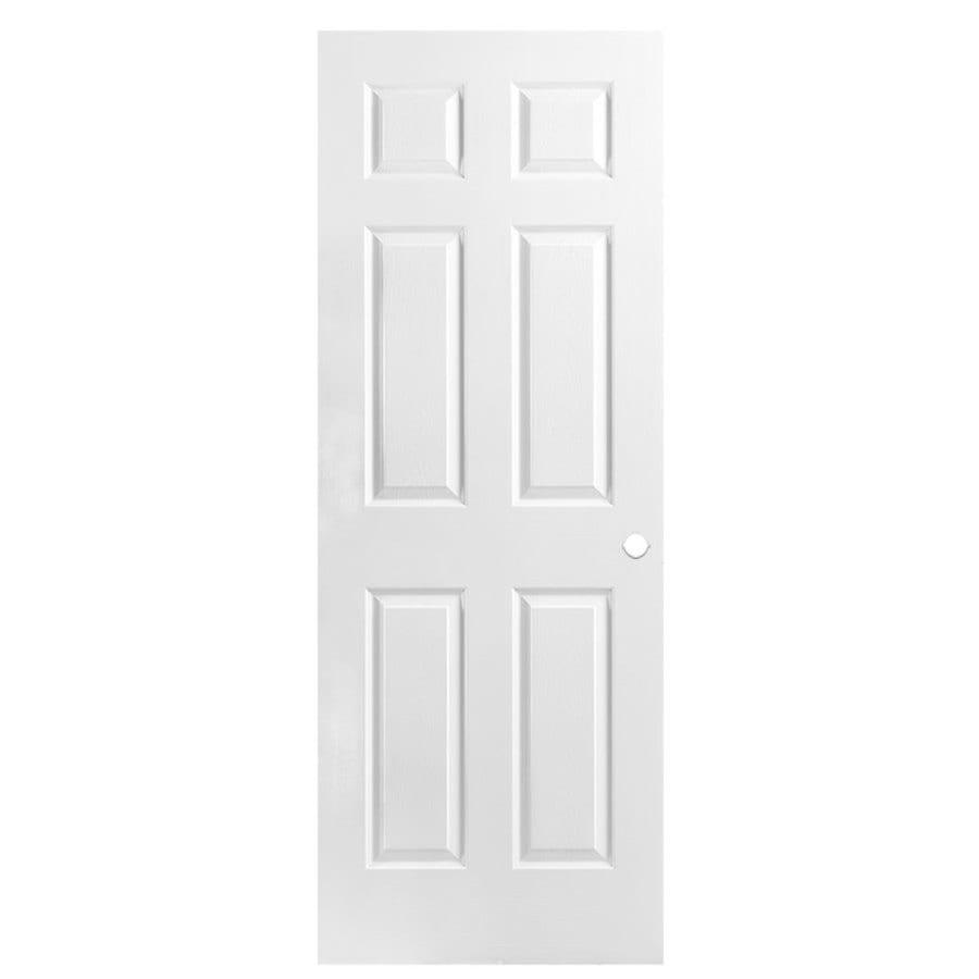 Masonite Hollow Core 6-Panel Slab Interior Door (Common: 30-in x 80-in; Actual: 30-in x 80-in)