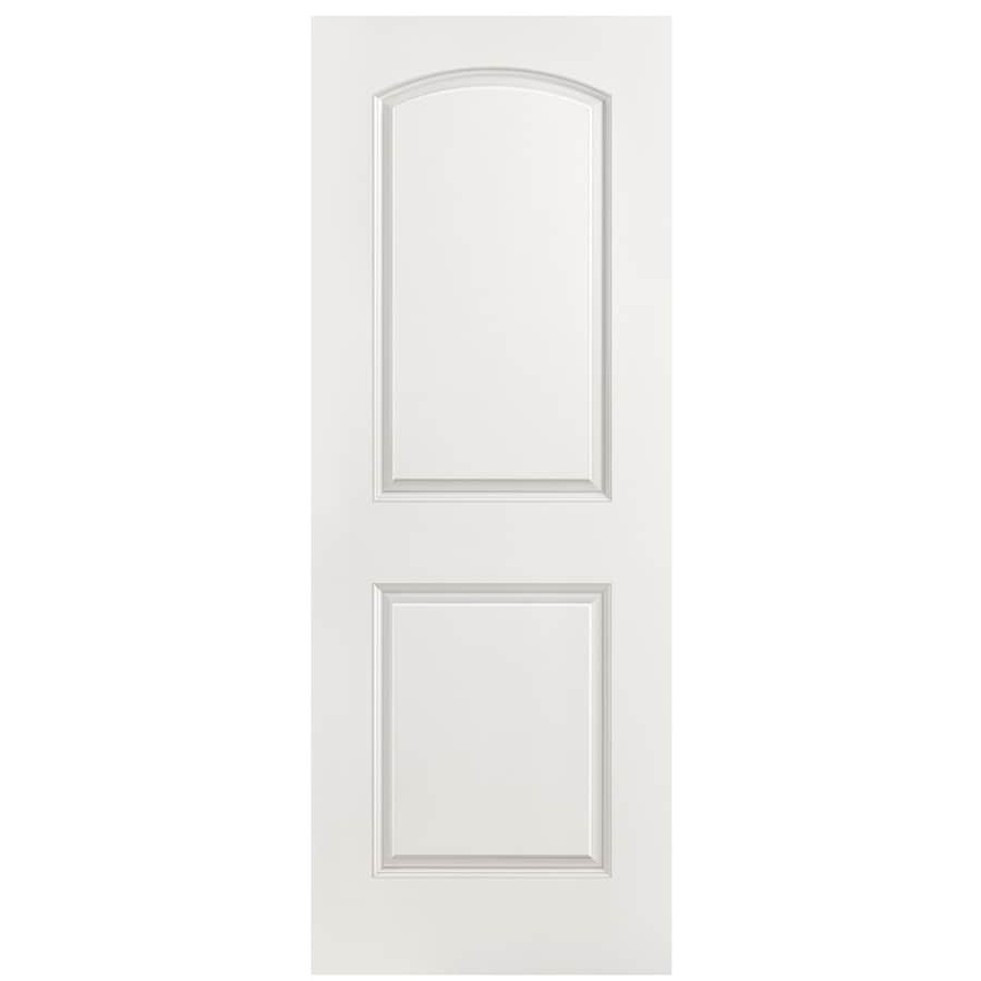 Masonite Hollow Core 2-Panel Round Top Slab Interior Door (Common: 32-in x 80-in; Actual: 32-in x 80-in)