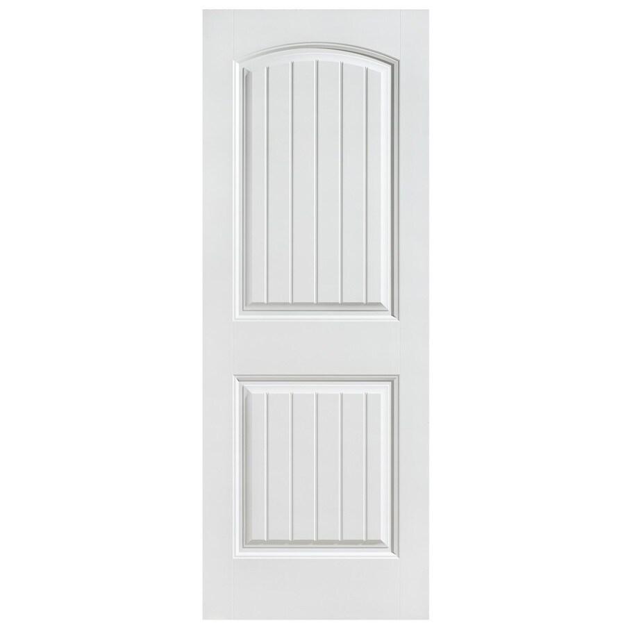 Masonite Hollow Core 2-Panel Round Top Plank Slab Interior Door (Common: 28-in x 80-in; Actual: 28-in x 80-in)