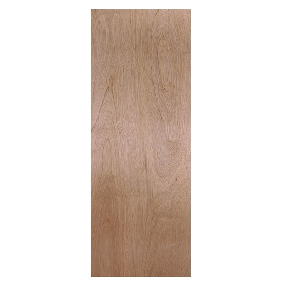 Shop Masonite Hollow Core Flush Hardwood Slab Interior Door Common 36 In X 80 In Actual 36