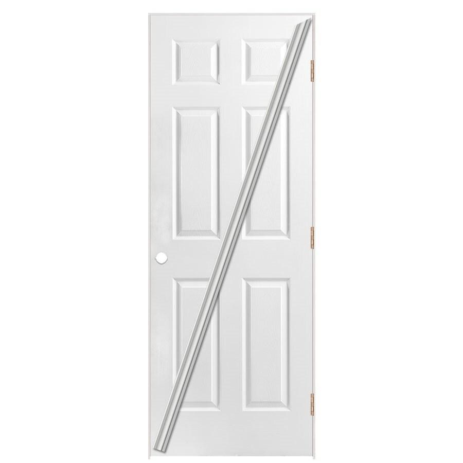 Masonite Prehung Hollow Core 6-Panel Interior Door (Common: 32-in x 80-in; Actual: 33.5-in x 81.5-in)