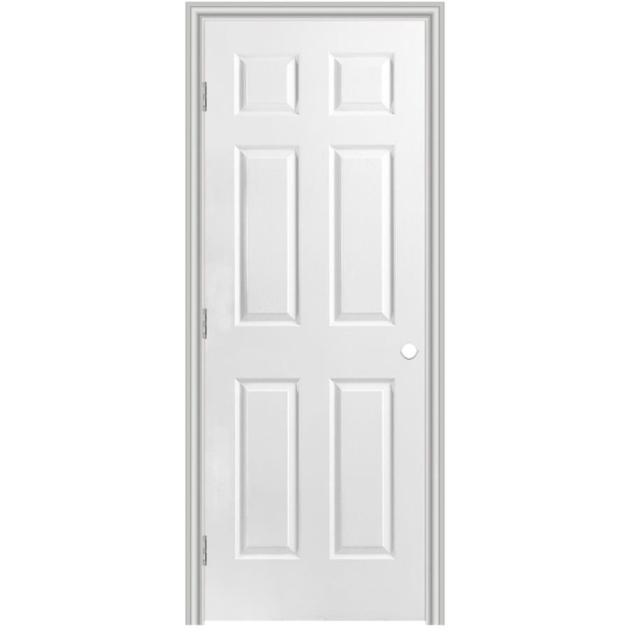 Masonite Prehung Hollow Core 6-Panel Interior Door (Common: 28-in x 80-in; Actual: 29.5-in x 81.5-in)