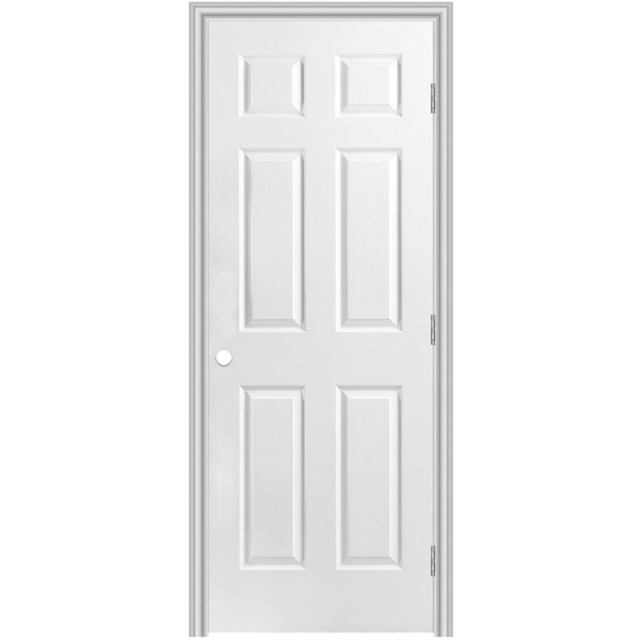 shop masonite prehung hollow core 6 panel interior door common 32 in x 80 in actual 33 5 in