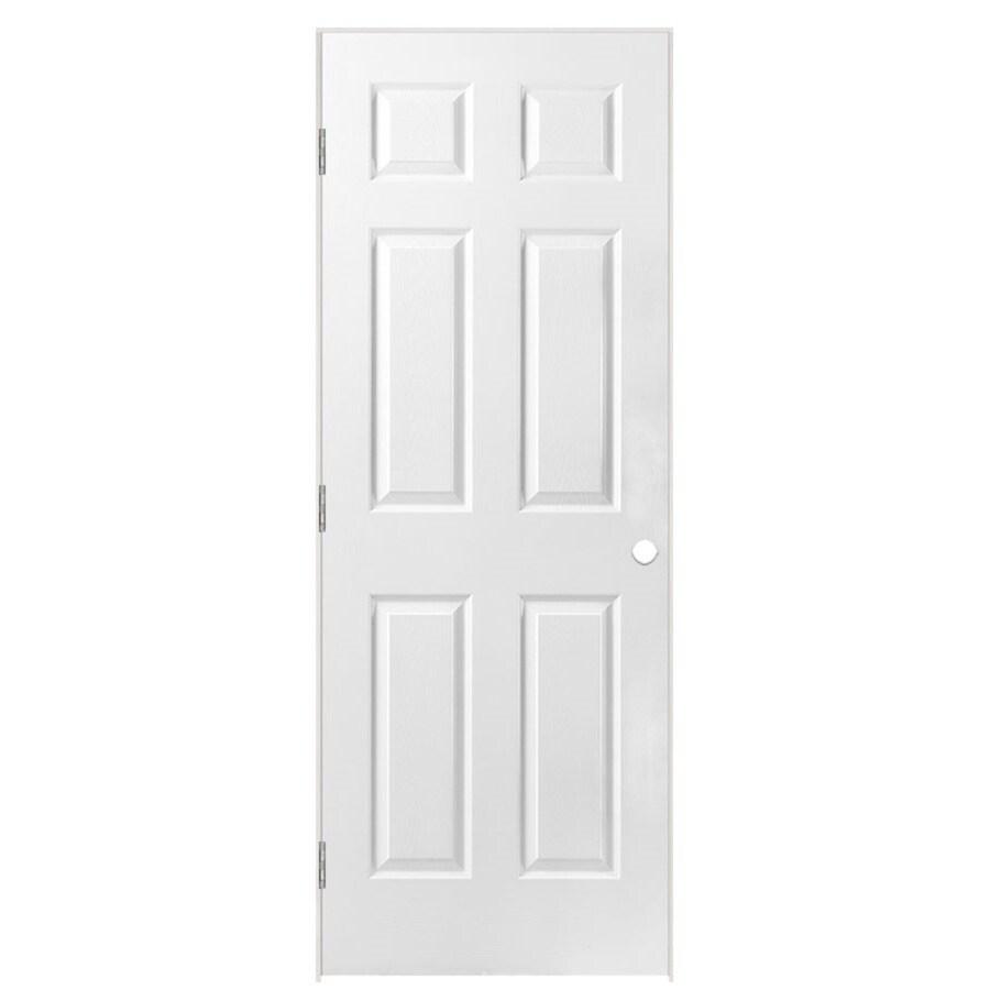 Masonite Prehung Hollow Core 6-Panel Interior Door (Common: 32-in x 78-in; Actual: 33.5-in x 79.5-in)