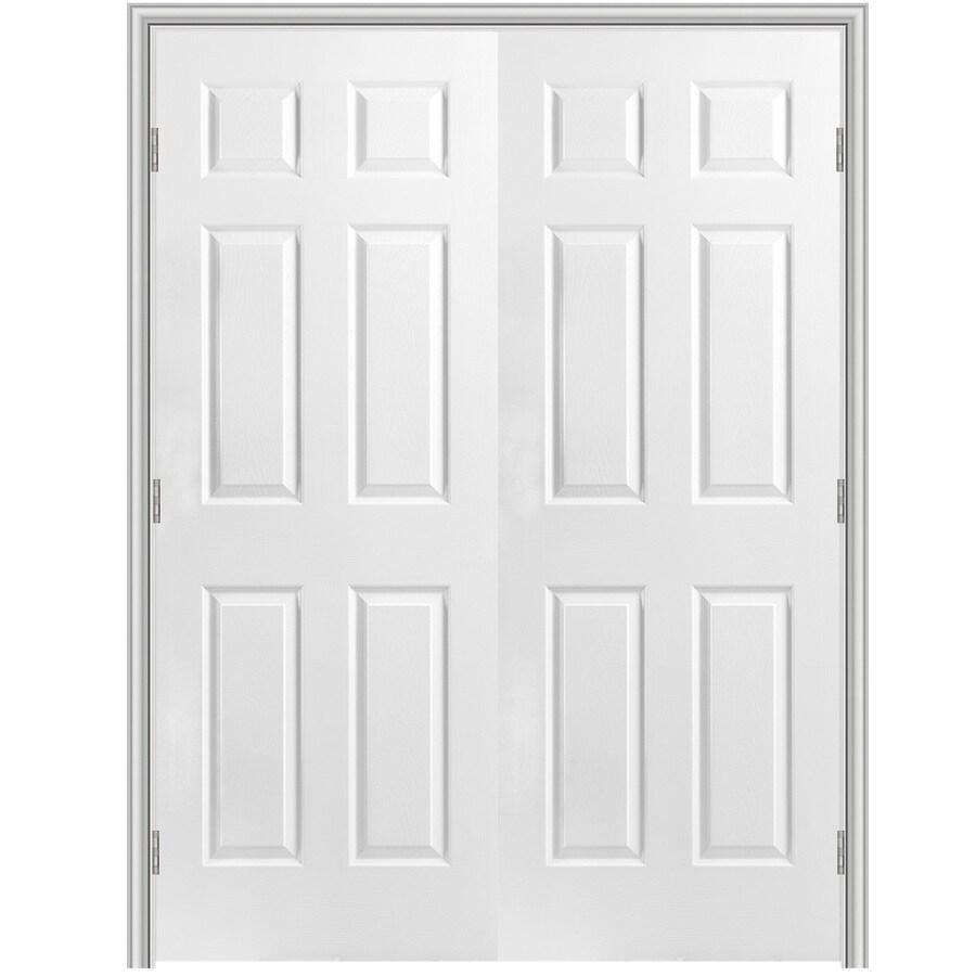 Masonite Prehung Hollow Core 6-Panel Interior Door (Common: 48-in x 80-in; Actual: 49.5-in x 81.5-in)