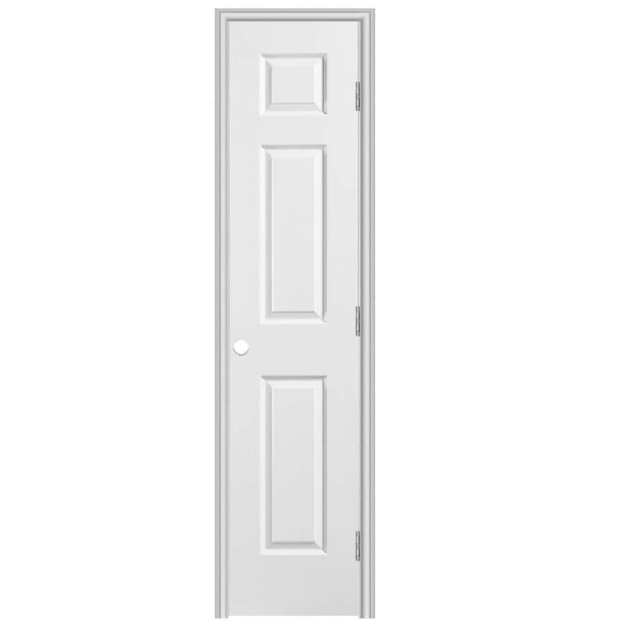 Masonite Prehung Hollow Core 6-Panel Interior Door (Common: 18-in x 80-in; Actual: 19.5-in x 81.5-in)