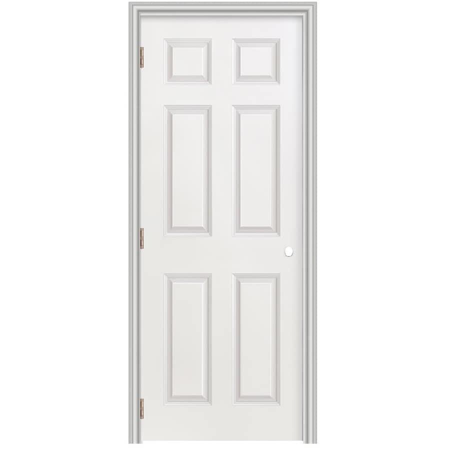 Masonite Prehung Hollow Core 6-Panel Interior Door (Common: 28-in x 78-in; Actual: 29.5-in x 79.5-in)