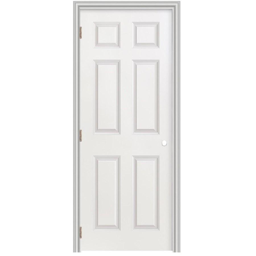 Masonite Prehung Hollow Core 6-Panel Interior Door (Common: 36-in x 78-in; Actual: 37.5-in x 79.5-in)