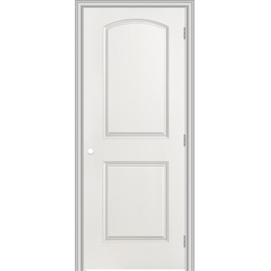 Masonite Prehung Hollow Core 2-Panel Round Top Interior Door (Common: 30-in x 80-in; Actual: 31.5-in x 81.5-in)