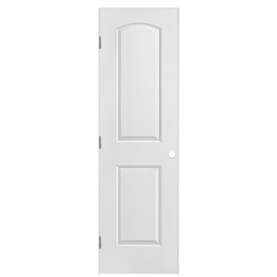 Masonite Prehung Hollow Core 2-Panel Round Top Interior Door (Common: 24-in x 80-in; Actual: 25.5-in x 81.5-in)