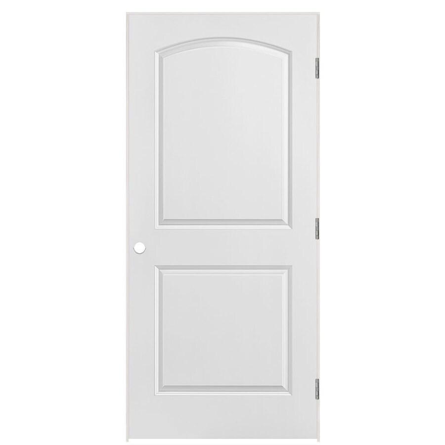 Masonite Prehung Hollow Core 2-Panel Round Top Interior Door (Common: 36-in x 80-in; Actual: 37.5-in x 81.5-in)