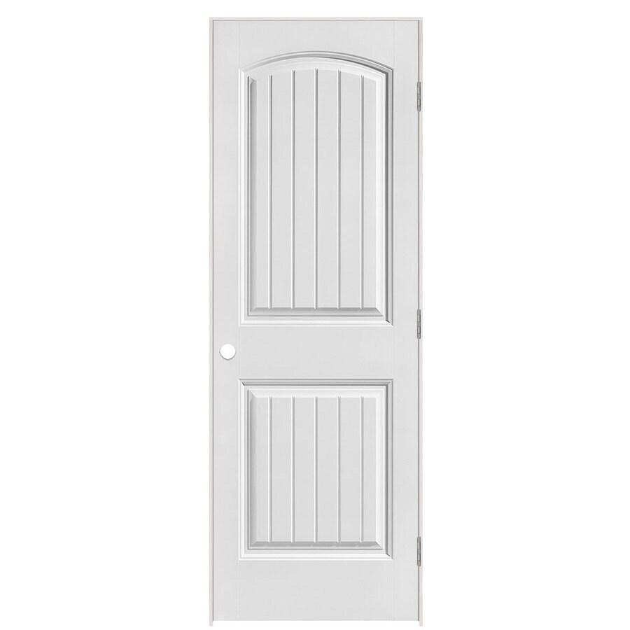 Masonite Prehung Hollow Core 2-Panel Round Top Plank Interior Door (Common: 28-in x 80-in; Actual: 29.5-in x 81.5-in)