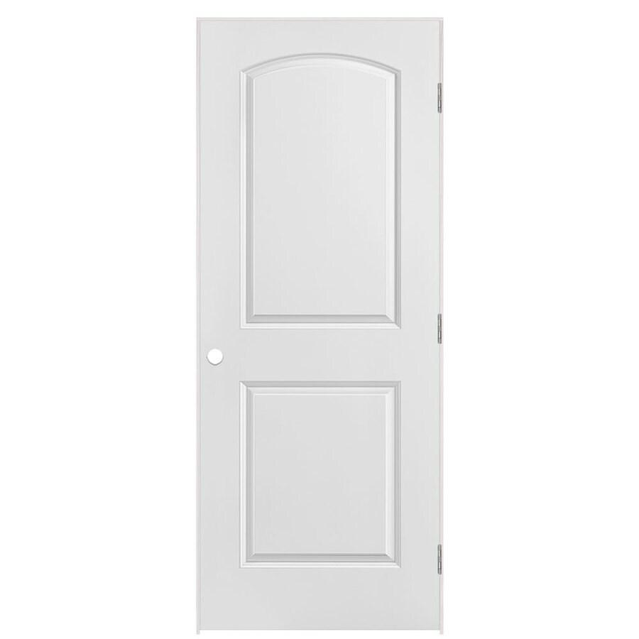 Masonite Prehung Hollow Core 2-Panel Round Top Plank Interior Door (Common: 32-in x 80-in; Actual: 33.5-in x 81.5-in)
