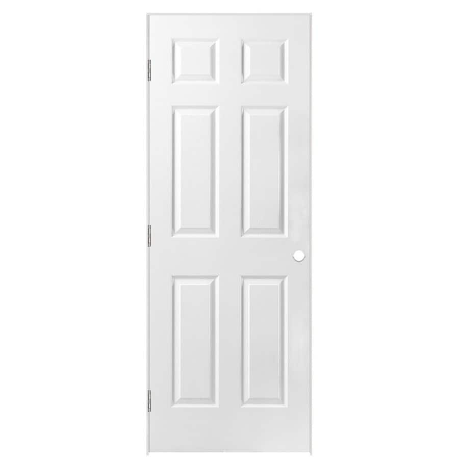 Shop Masonite Prehung Solid Core 6 Panel Interior Door Common 28 In X 80 In Actual 29 5 In X