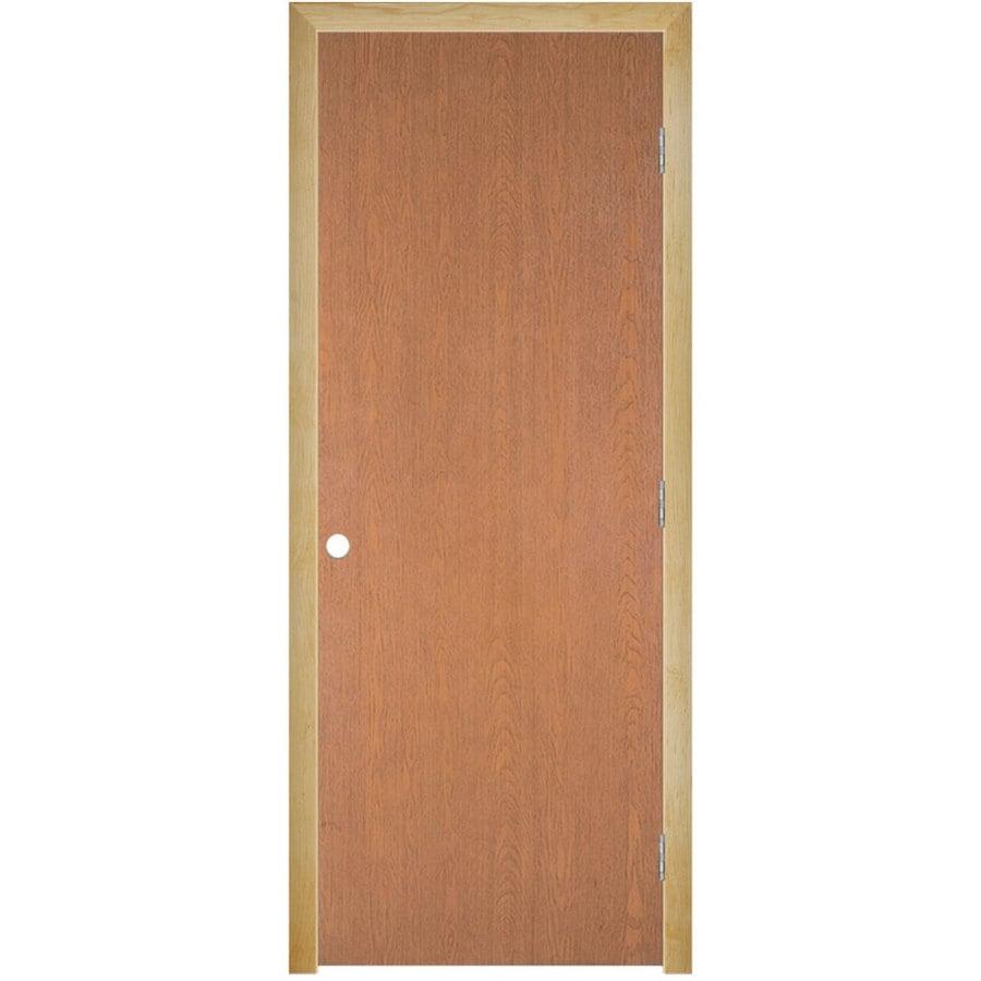 Masonite Prehung Hollow Core Flush Hardwood Interior Door (Common: 36-in x 80-in; Actual: 37.5-in x 81.5-in)