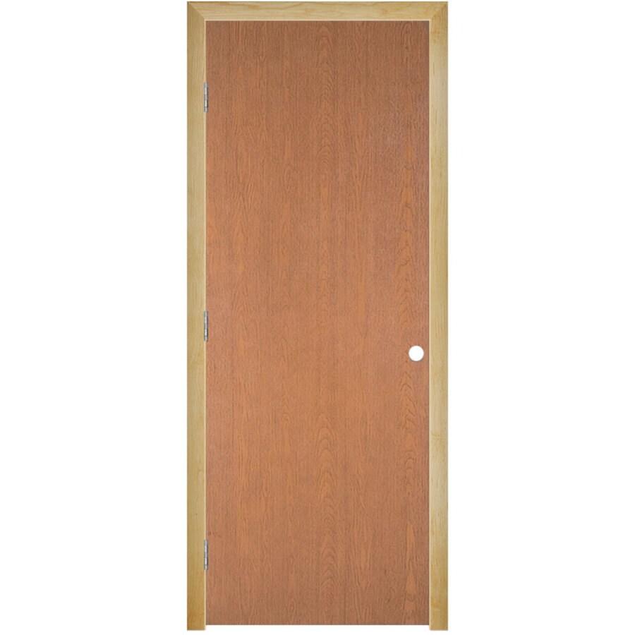 Masonite Prehung Hollow Core Flush Hardwood Interior Door (Common: 32-in x 80-in; Actual: 33.5-in x 81.5-in)