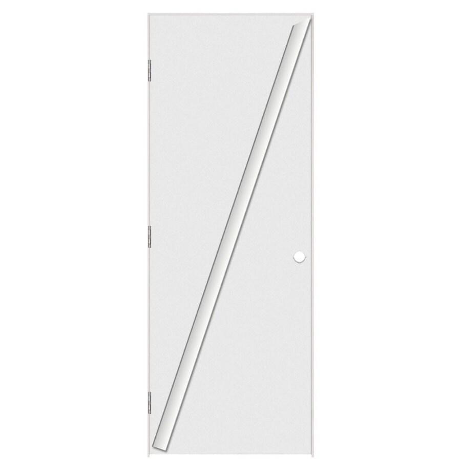 Masonite Prehung Hollow Core Flush Interior Door (Common: 28-in x 80-in; Actual: 29.5-in x 81.5-in)