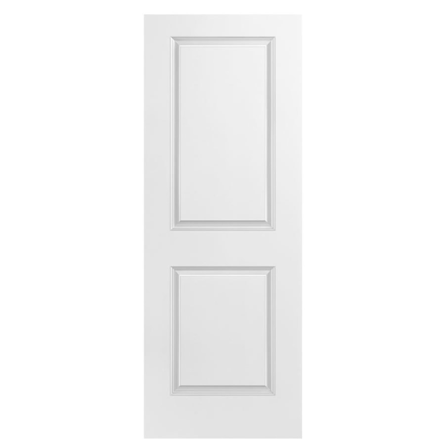 Masonite Hollow Core 2-Panel Square Slab Interior Door (Common: 28-in x 80-in; Actual: 28-in x 80-in)
