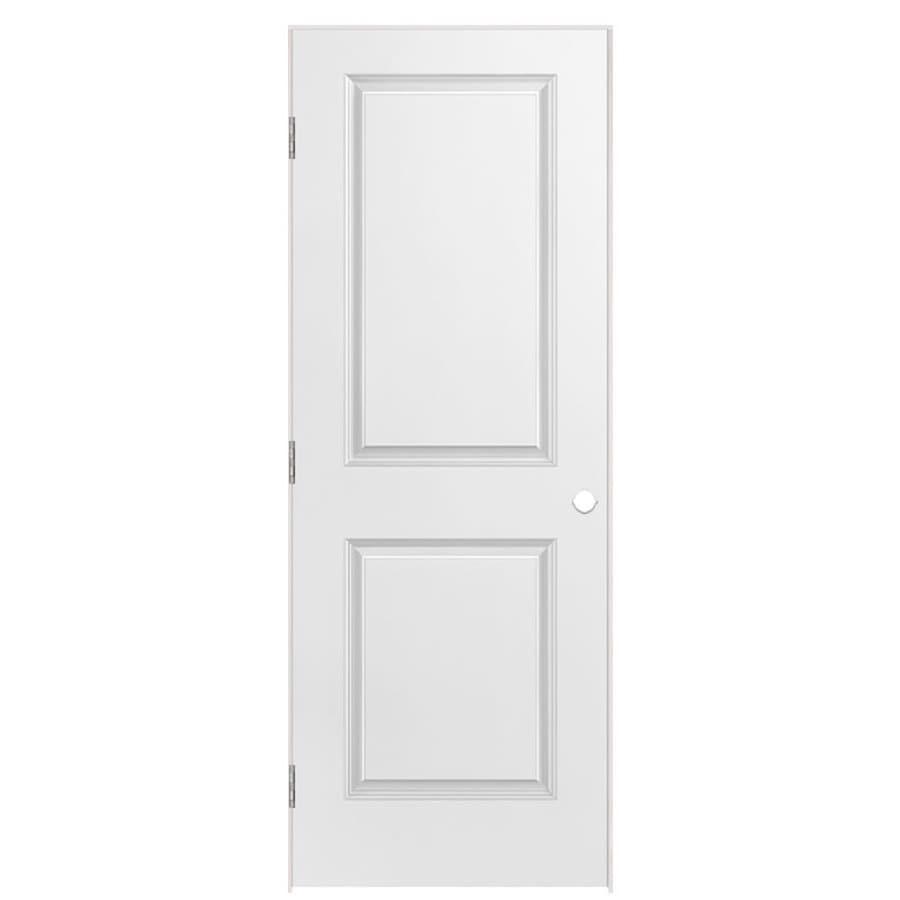 Masonite Prehung Hollow Core 2-Panel Square Interior Door (Common: 24-in x 80-in; Actual: 25.5-in x 81.5-in)