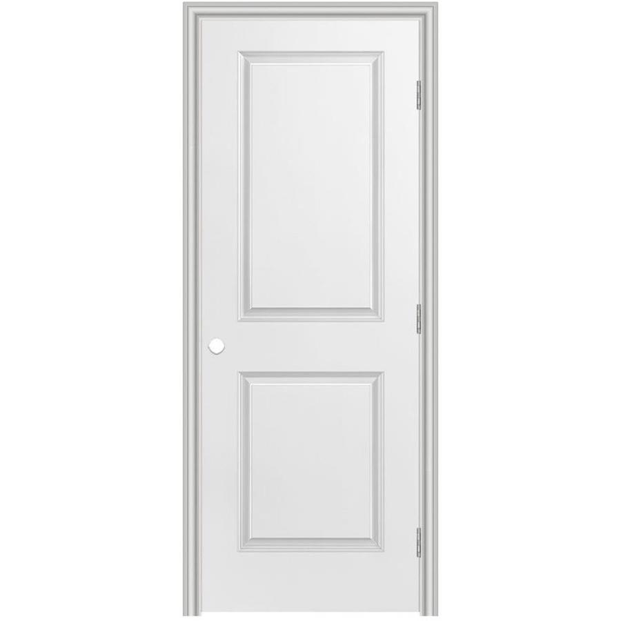 Masonite Prehung Hollow Core 2-Panel Square Interior Door (Common: 36-in x 80-in; Actual: 37.5-in x 81.5-in)