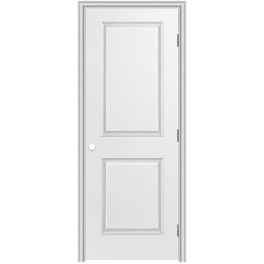 Masonite Prehung Hollow Core 2-Panel Square Interior Door (Common: 28-in x 80-in; Actual: 29.5-in x 81.5-in)