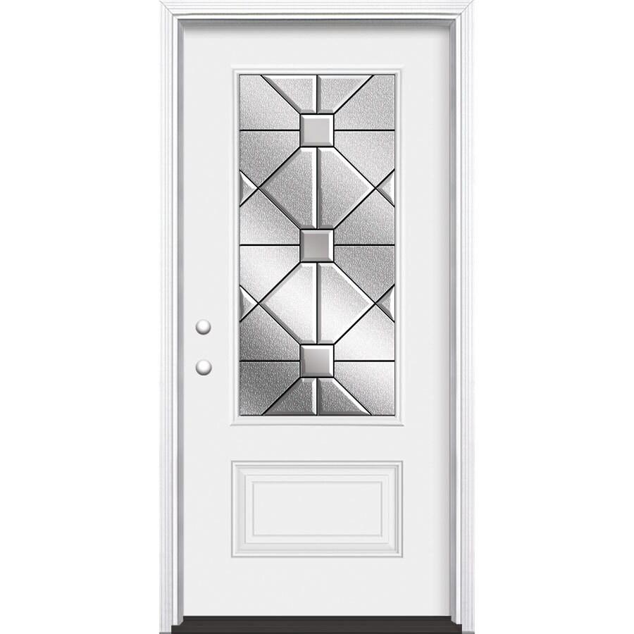 Shop masonite hancock 1 panel insulating core 3 4 lite for Exterior door insulation