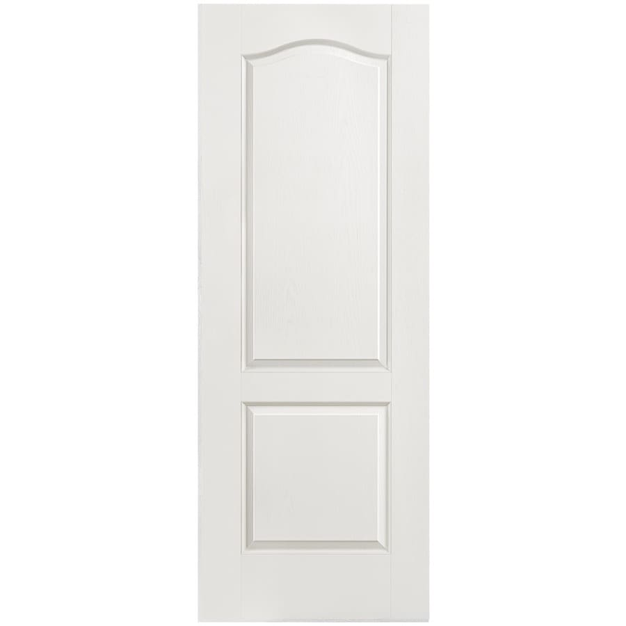shop masonite hollow core 2 panel arch top slab interior door common 30 in x 80 in actual 30
