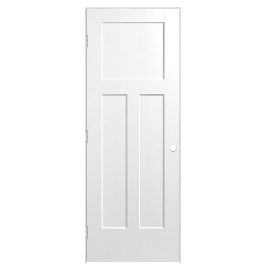 Masonite Prehung Hollow Core 3-Panel Craftsman Interior Door (Common: 32-in x 80-in; Actual: 33.75-in x 81.75-in)