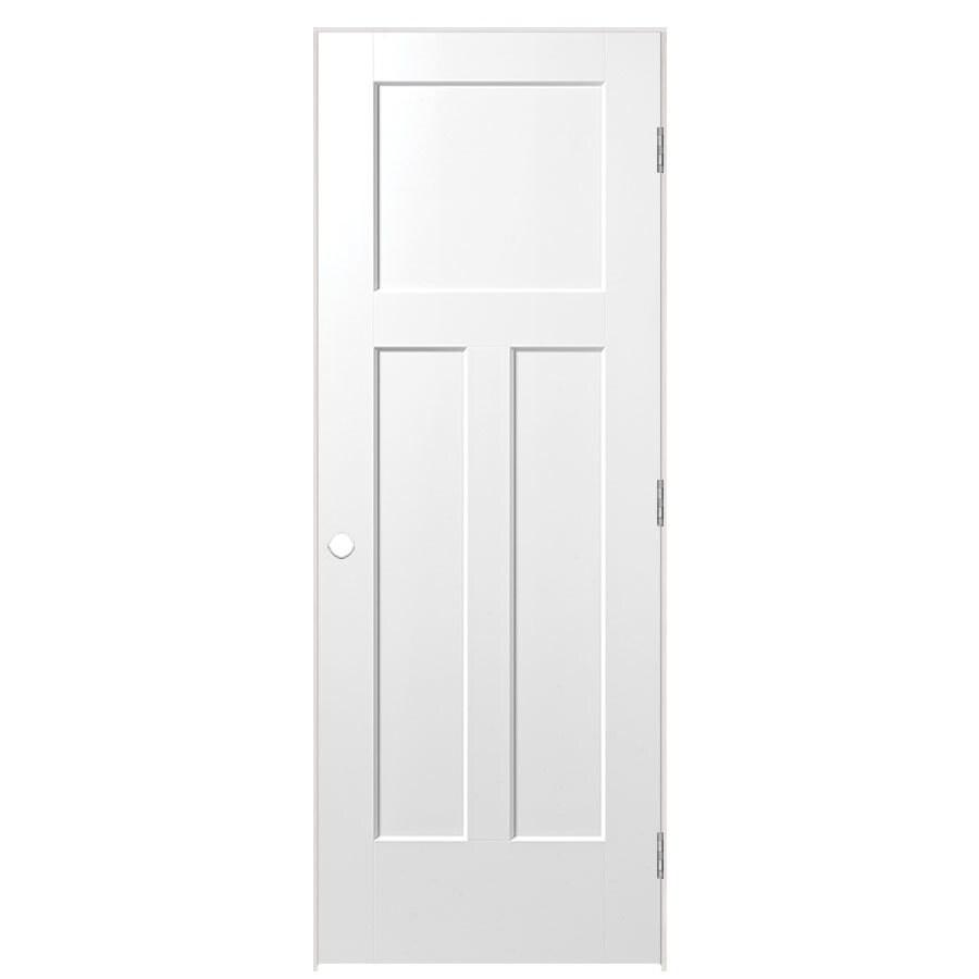 Masonite Prehung Hollow Core 3-Panel Craftsman Interior Door (Common: 36-in x 80-in; Actual: 37.75-in x 81.75-in)
