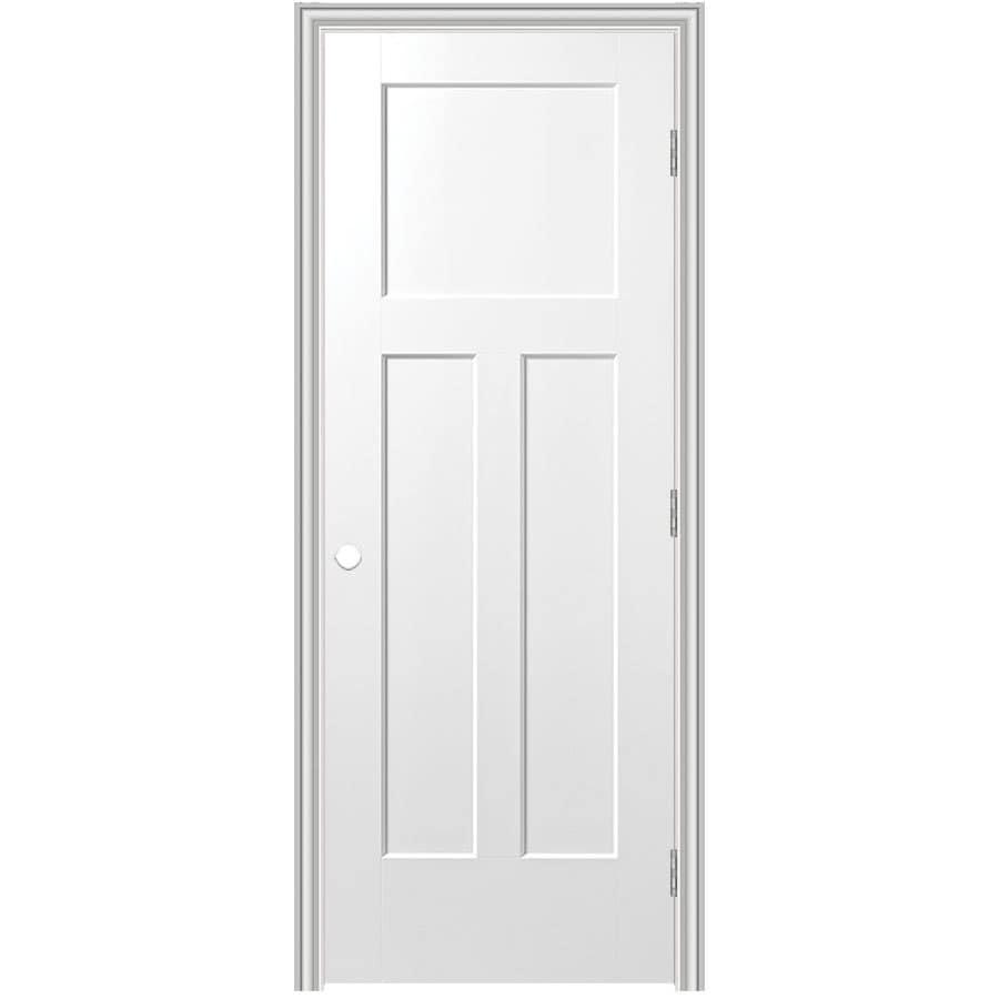 Shop Masonite Prehung Hollow Core 3 Panel Craftsman Interior Door Common 36 In X 80 In Actual