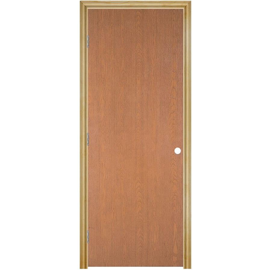 Masonite Prehung Hollow Core Flush Hardwood Interior Door (Common: 24-in x 80-in; Actual: 25.75-in x 81.75-in)