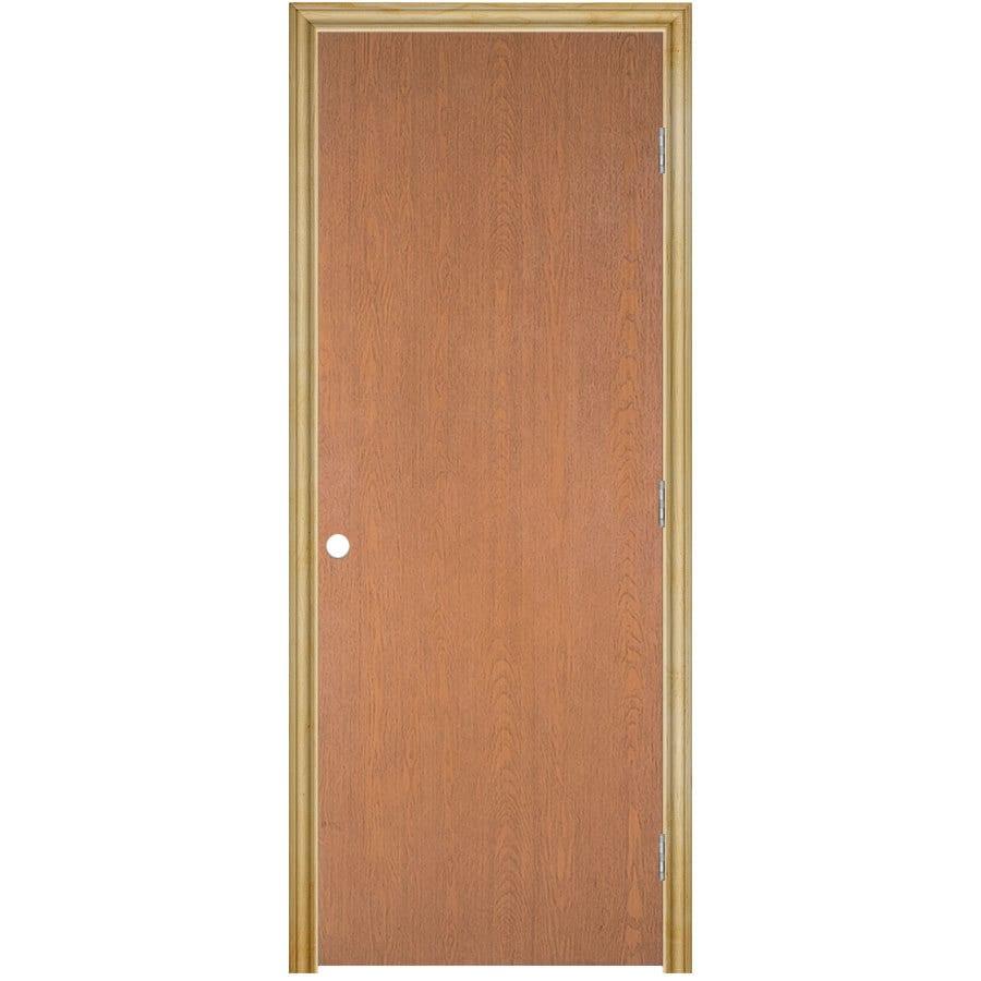 Masonite Prehung Hollow Core Flush Hardwood Interior Door (Common: 30-in x 80-in; Actual: 31.75-in x 81.75-in)