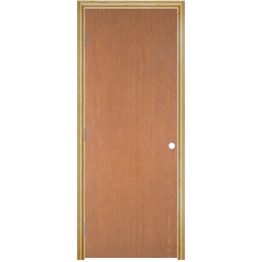Masonite Prehung Hollow Core Flush Hardwood Interior Door (Common: 32-in x 80-in; Actual: 33.75-in x 81.75-in)