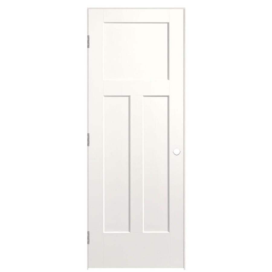 Masonite Expo Snow Storm Prehung Hollow Core 3-Panel Craftsman Interior Door (Common: 24-in x 80-in; Actual: 25.5-in x 81.5-in)