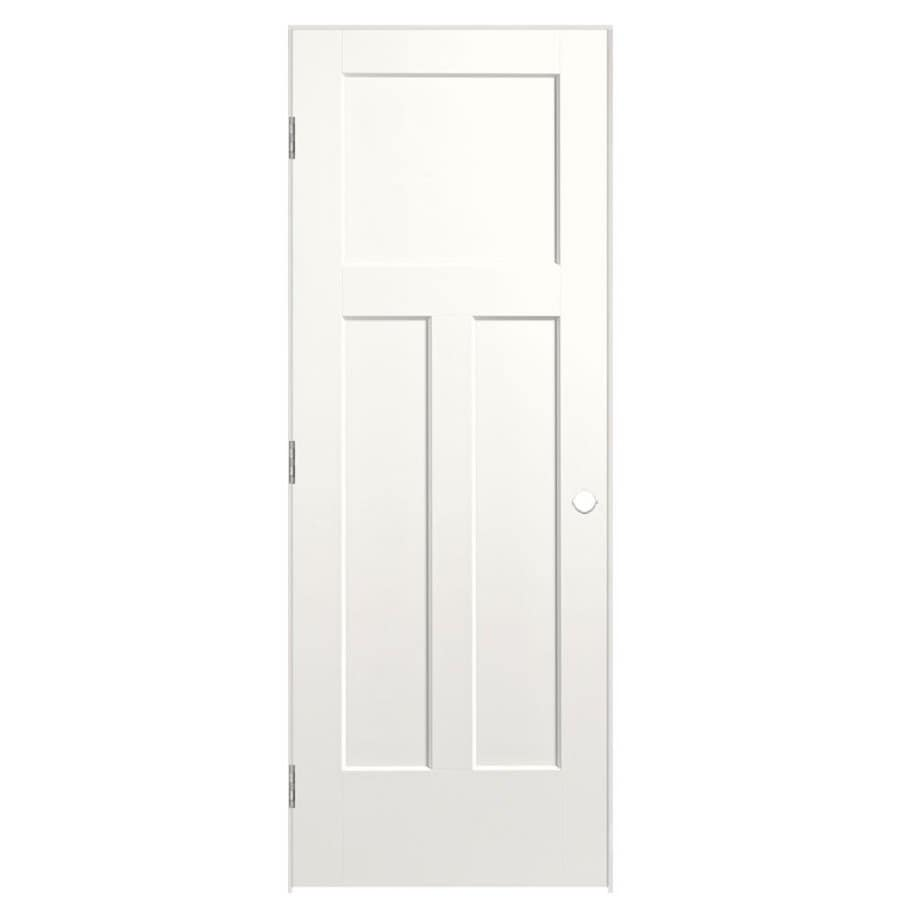Masonite Expo Snow Storm Prehung Hollow Core 3-Panel Craftsman Interior Door (Common: 36-in x 80-in; Actual: 37.5-in x 81.5-in)