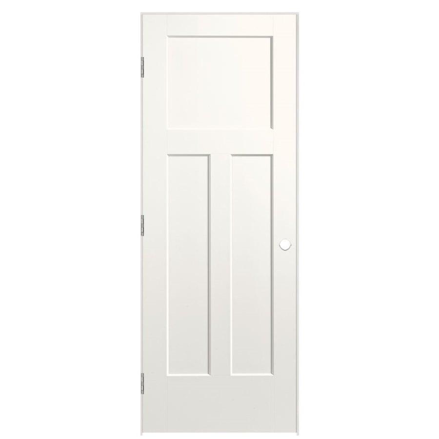 Masonite Expo White Prehung Hollow Core 3-Panel Craftsman Interior Door (Common: 24-in x 80-in; Actual: 25.5-in x 81.5-in)