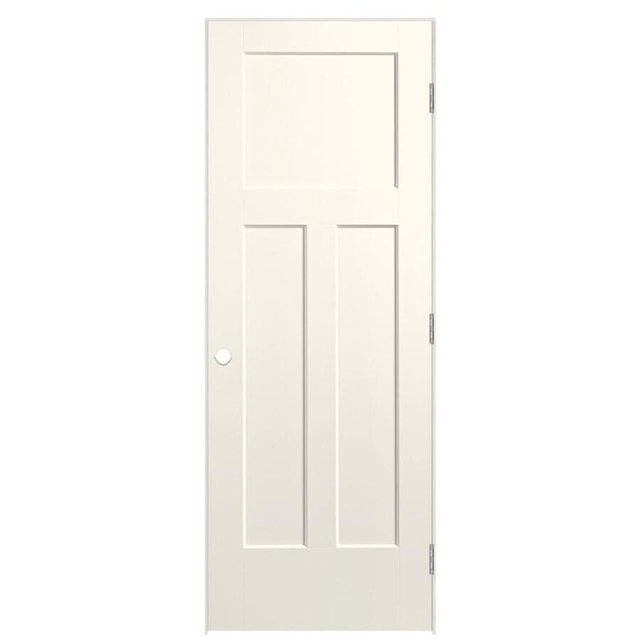 Masonite Expo Moonglow Prehung Hollow Core 3-Panel Craftsman Interior Door (Common: 32-in x 80-in; Actual: 33.5-in x 81.5-in)