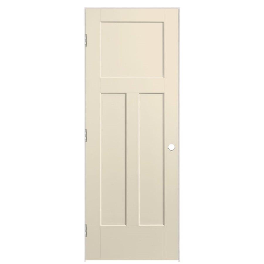 Masonite Expo Cream-N-Sugar Prehung Hollow Core 3-Panel Craftsman Interior Door (Common: 36-in x 80-in; Actual: 37.5-in x 81.5-in)
